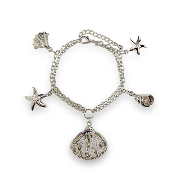 Rhodium Plated Ocean Bracelet