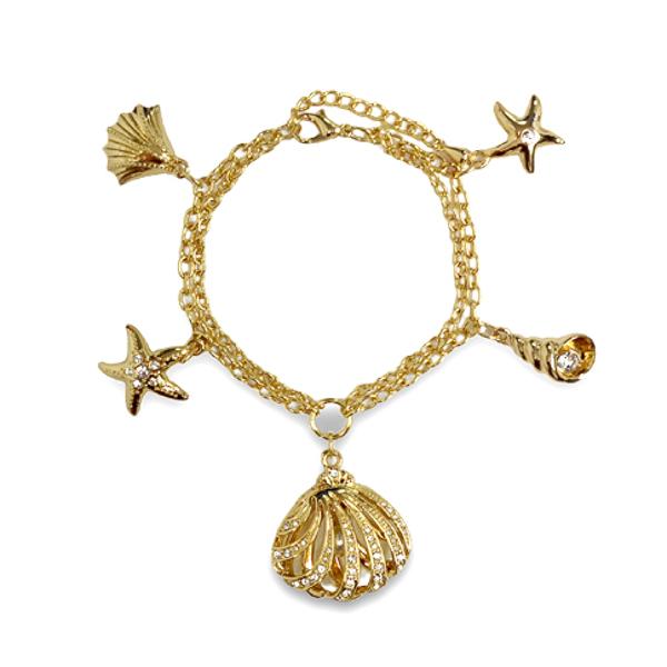 14K Gold Plated Ocean Bracelet