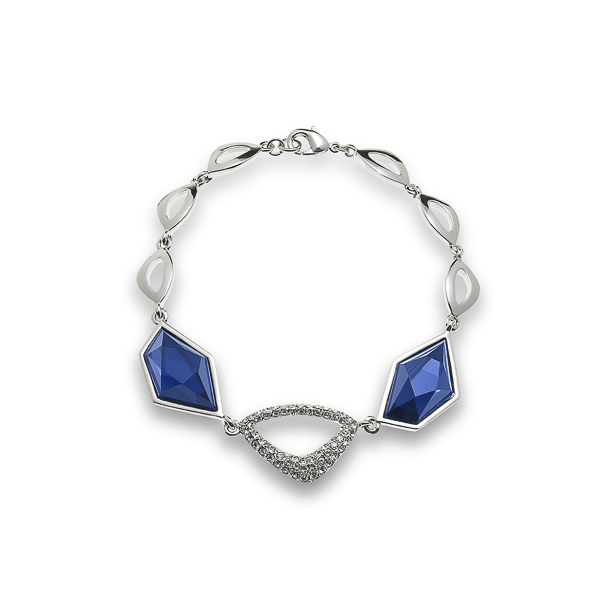 Rhodium Plated Bracelet