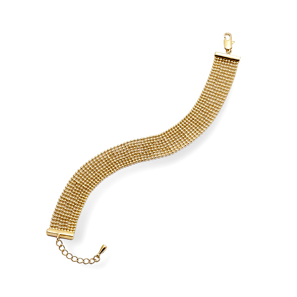 14K Gold Plated Knotted Bracelet
