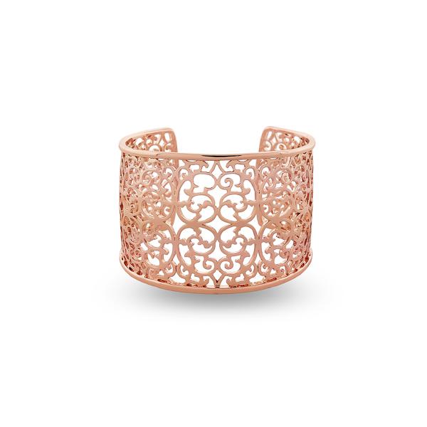 Rose Gold Filigree Open Bracelet