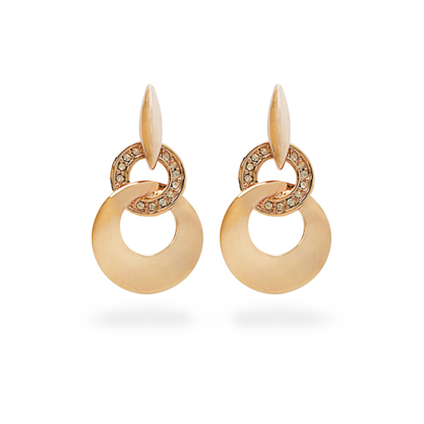 Rose Gold Plated Small Crystal Earrings