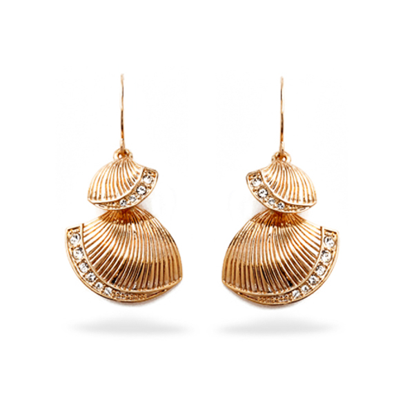 Rose Gold Plated Sea Shell Earrings