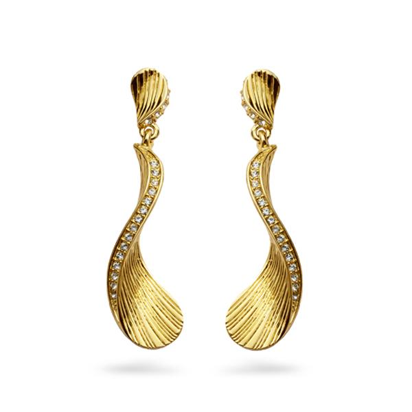 14k Gold Plated Ocean Earrings