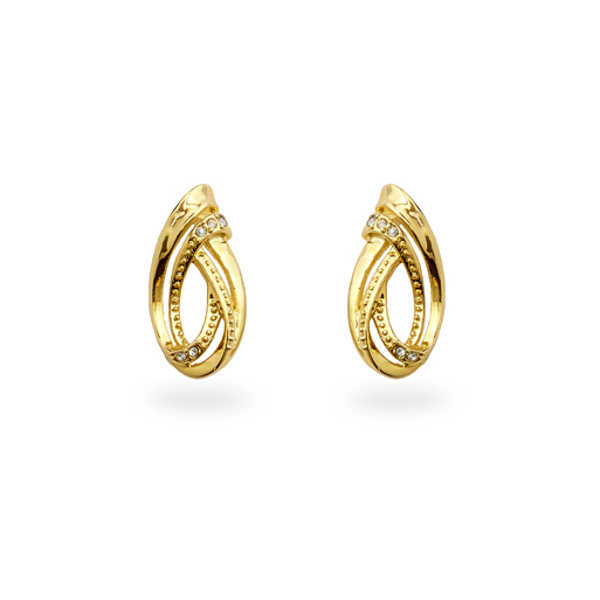 14K Gold Plated Small Swirl Earrings