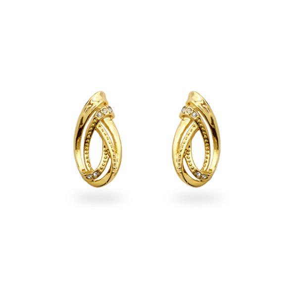 14K Gold Plated Small Swirl Earrings