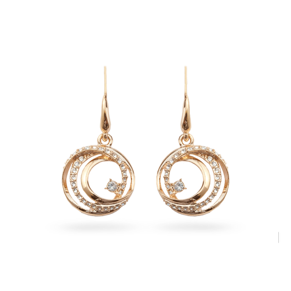 Rose Gold Plated Crystal Loops Earrings