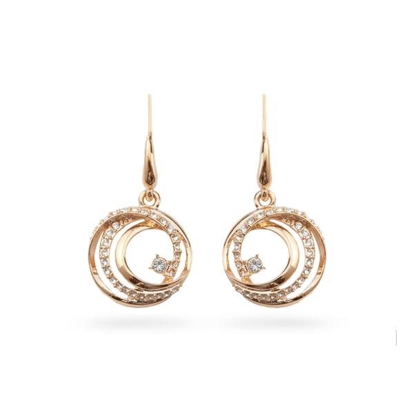 Rose Gold Plated Crystal Loops Earrings