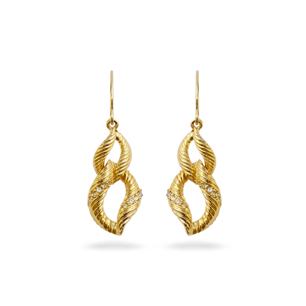 14K Gold Plated Double Loop Earrings