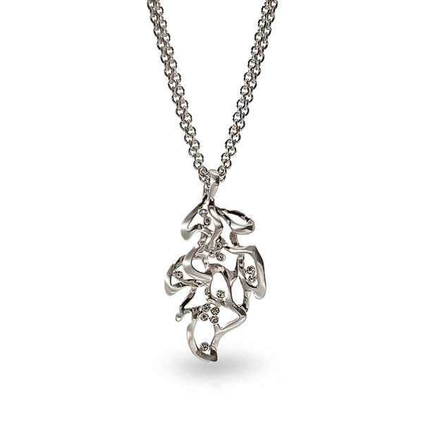 Rhodium Plated Leaf Necklaces