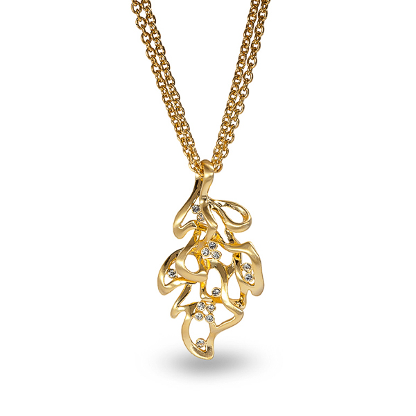 14K Gold Plated Leaf Necklace