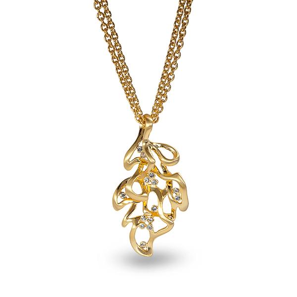 14K Gold Plated Leaf Necklace