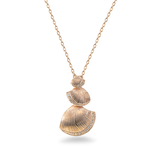 Rose Gold Plated Sea Shell Necklace