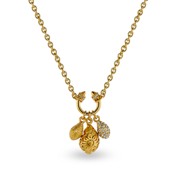 14K Gold Plated Crystal Charms Necklace