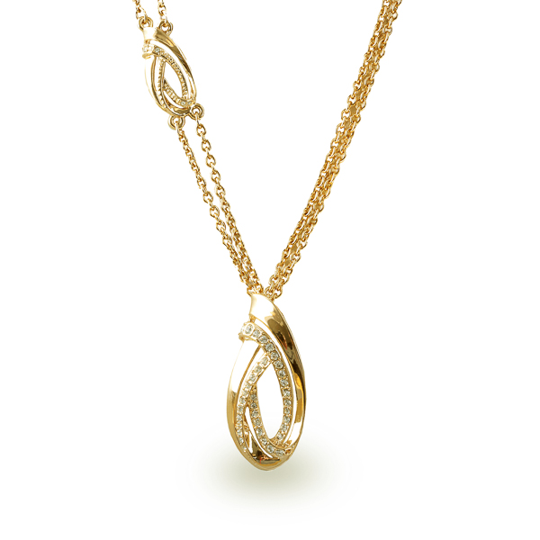 14K Gold Plated Swirl Necklace