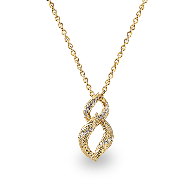 14K Gold Plated Double Loop Necklace