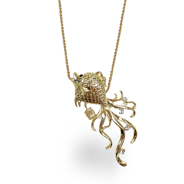 14K Gold Plated Fish Necklace