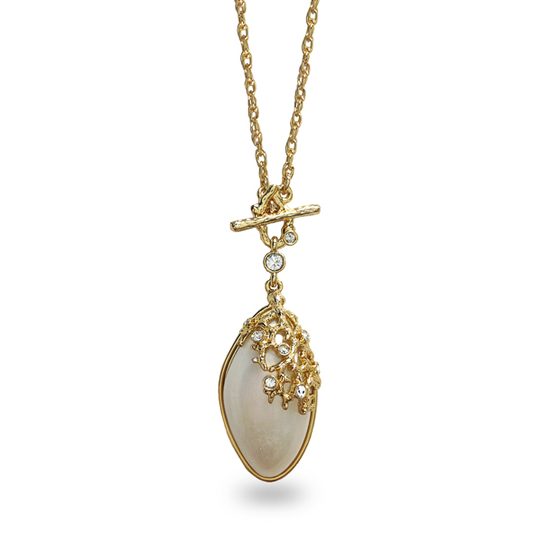 14K Gold Plated Barnacle Necklace