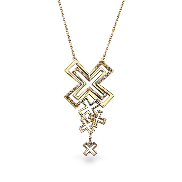 14K Gold Plated Kisses Necklace