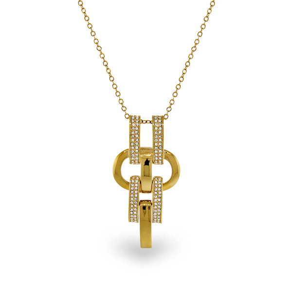 14K Gold Plated Crystal Necklace