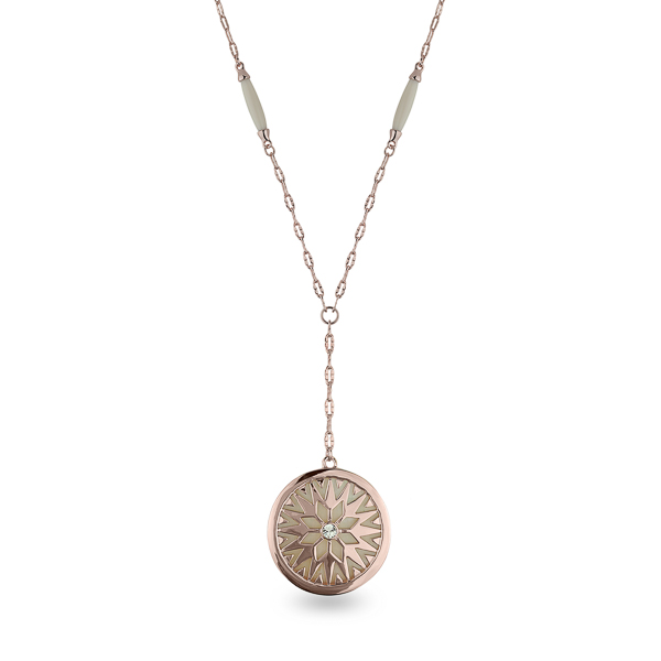 Rose Gold Plated Mother of Pearl Sun Drop Necklace