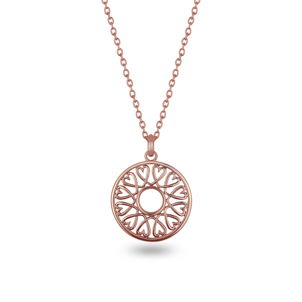 Rose Gold Plated Family of Hearts Necklace