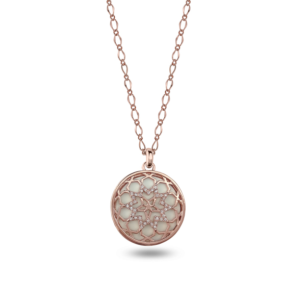 Rose Gold Plated Star Filigree Crystal Necklace