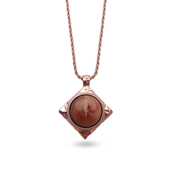 Rose Gold Plated Hammered Necklace