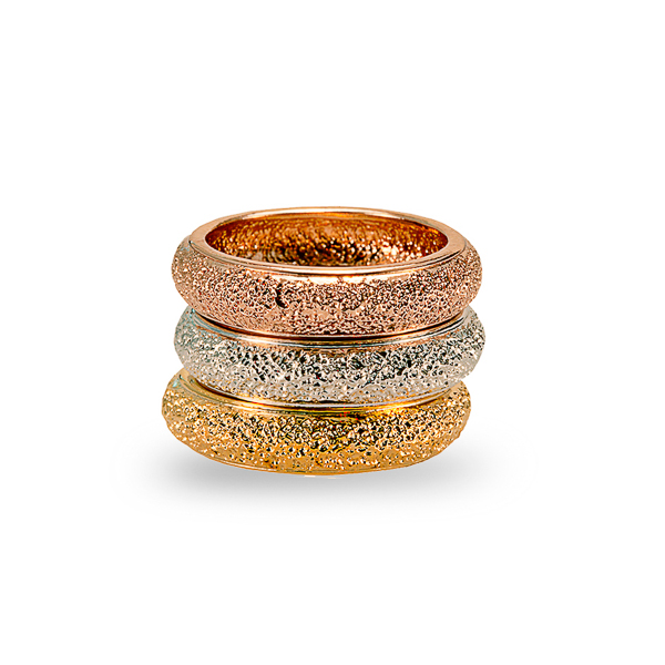 Multicolor Plated Stack Ring Set