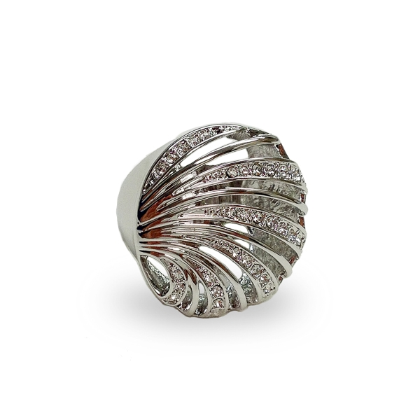 Rhodium Plated Ocean Ring