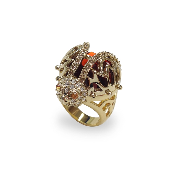 14K Gold Plated Ladybug Ring