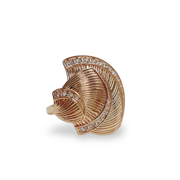 Rose Gold Plated Crystal Seashells Ring