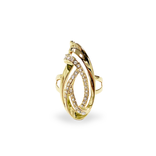 14K Gold Plated Swirl Ring