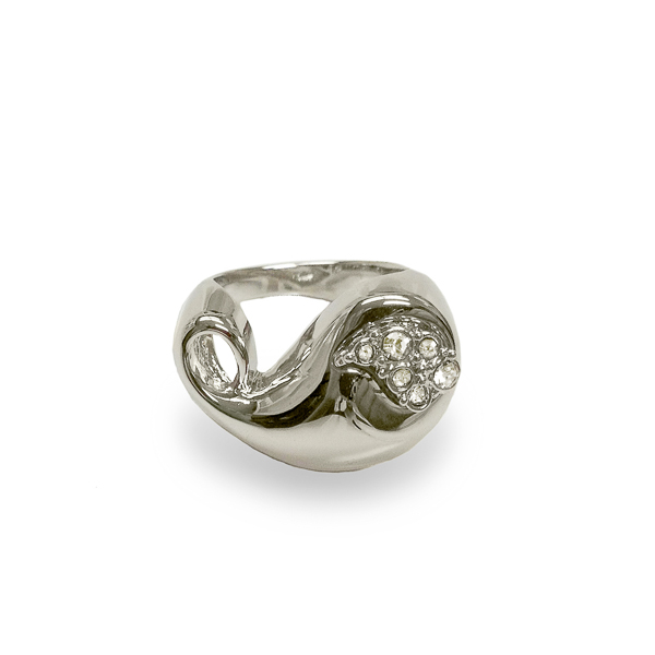 Rhodium Plated Paisley Ring