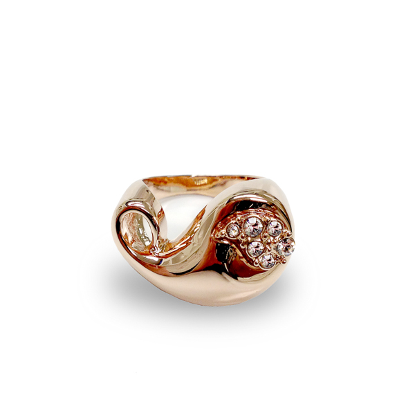 Rose Gold Plated Paisley Ring