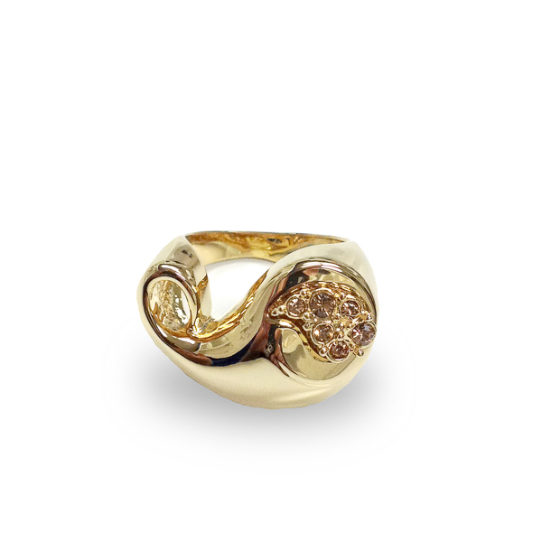 14K Gold Plated Paisley Ring
