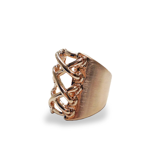 Rose Gold Plated Corset Ring