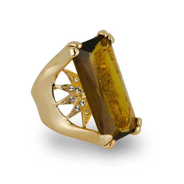 14K Gold Plated Starburst Ring