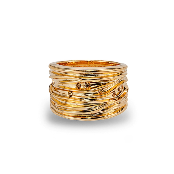 14K Gold Plated Layered Ring