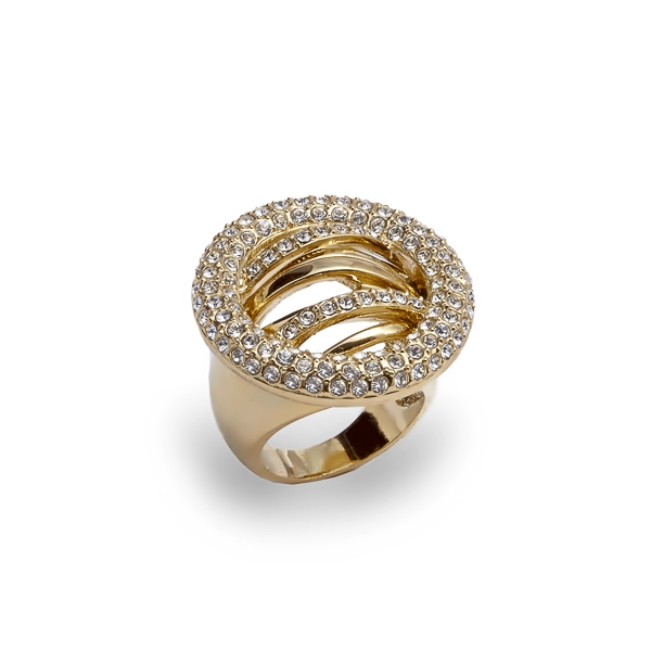 14K Gold Plated Elusive Crystal Ring