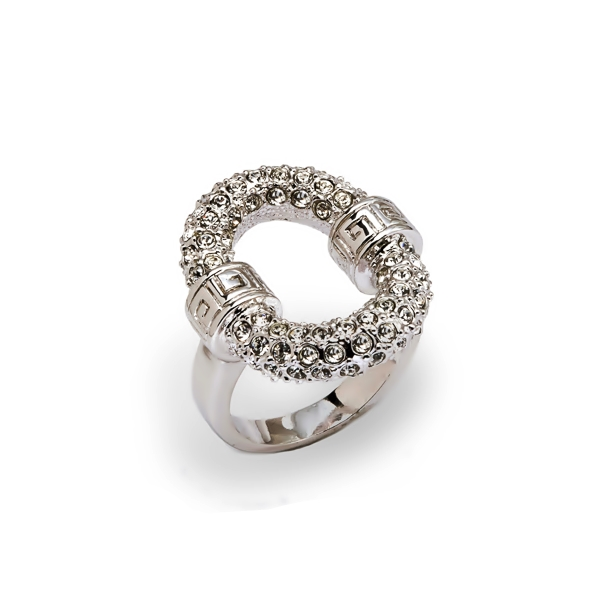 Rhodium Plated Crystal O Ring